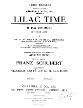 Lilac Time: A Play with Music in Three Acts