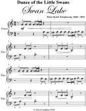 Dance of the Little Swans Swan Lake Beginner Piano Sheet Music