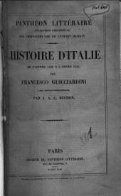 Histoire d'Italie de l'année 1492 à l'année 1532
