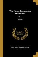 The Home Economics Movement: Pt. 1-;