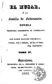El Husar, ó, La familia de Falkenstein, 4: novela