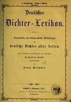 Deutsches Dichter LExikon PDF
