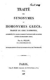 Traité des synonymes et homonymes grecs