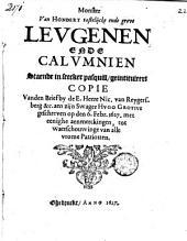 Monster van hondert tastelijcke ende grove leugenen ende calumnien staende in seecker pasquill, geintituleert Copie van den Brief [...].