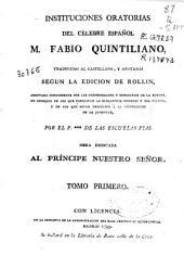 Instituciones oratorias del célebre español M. Fabio Quintiliano