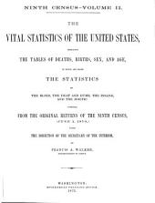 The Vital Statistics of the United States: Embracing the Tables of Deaths, Births, Sex and Age, to which are Added the Statistics of the Blind, the Deaf and Dumb, the Insane, and the Idiotic : Compiled, from the Original Returns of the Ninth Census, (June 1, 1870,) Under the Direction of the Secretary of the Interior, Volume 2