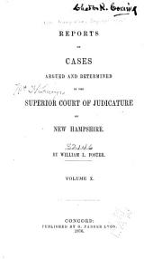The New Hampshire Reports: Volume 30