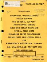 Operator s  Organizational  Direct Support  and General Support Maintenance Manual     Frequency Meters AN USM 159  AN USM 159A  and AN USM 159B  NSN 6625 00 892 5360   PDF