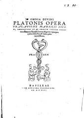 Omnia divini Platonis opera