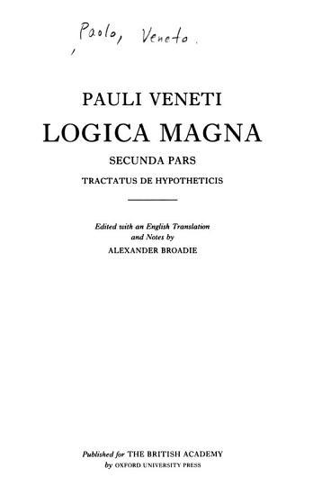 Logica Magna PDF