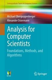 Analysis for Computer Scientists: Foundations, Methods, and Algorithms