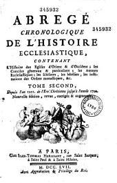 Abrégé chronologique de l'histoire ecclésiastique: Volume1