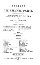 Journal - Chemical Society, London: Volume 64, Part 1
