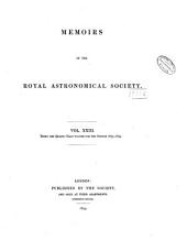 Memoirs of the Royal Astronomical Society: Volumes 21-22