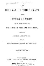 Journal of the Senate of the ... General Assembly of Ohio: Volume 55, Issue 1