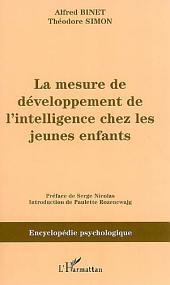 La mesure du développement de l'intelligence chez les jeunes enfants
