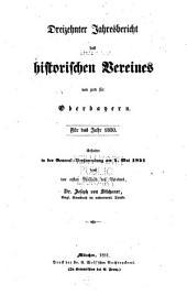 Jahres-bericht des Historischen vereines von Oberbayern: Bände 13-16
