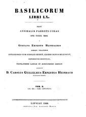 Basilicorum libri LX: Volume 2