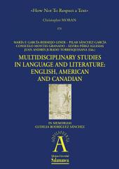 How Not To Respect a Text: EN Multidisciplinary Studies in Language and Literature: English, American and Canadian