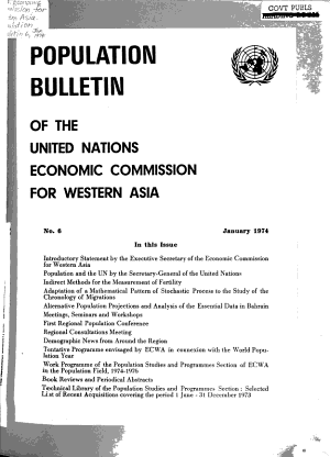 Population Bulletin of the United Nations Economic Commission for Western Asia PDF