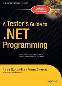 A Tester s Guide to  NET Programming PDF