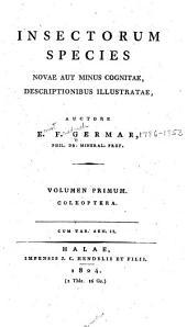 Insectorum Species Novae Aut Minus Cognitae
