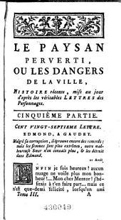 Le paysan perverti; ou, Les dangers de la ville ...