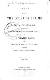 Cases Decided in the Court of Claims of the United States ...
