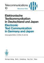 Elektronische Textkommunikation in Deutschland und Japan / Electronic Text Communication in Germany and Japan