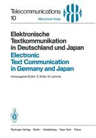 Elektronische Textkommunikation in Deutschland und Japan   Electronic Text Communication in Germany and Japan PDF