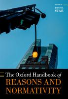 The Oxford Handbook of Reasons and Normativity PDF