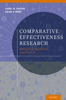 Comparative Effectiveness Research PDF
