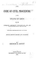 The Code of Civil Procedure of the State of Ohio PDF