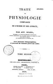 Traité de physiologie comparée de l'homme et des animaux: Volume1