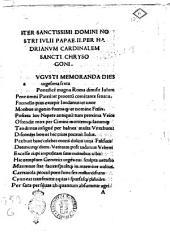Iter sanctissimi domini nostri Iulii papae II.