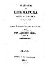 Lecciones de Literatura Dramatica Espanola