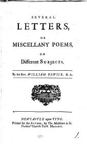 Several letters, or miscellany poems, on different subjects: Volume 1