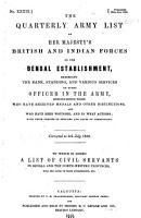 The Quarterly Army List of Her Majesty s British and Indian Forces on the Bengal Establishment PDF