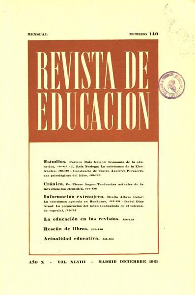 Revista De Educacion No 140