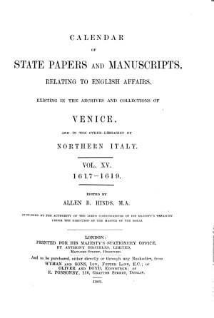 Calendar of State Papers and Manuscripts Relating to English Affairs PDF
