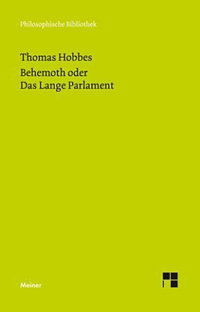 Behemoth oder Das Lange Parlament PDF