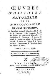Oeuvres D'Histoire Naturelle Et De Philosophie: Mémoires D'Histoire Naturelle. 3