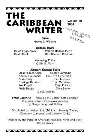 The Caribbean Writer PDF