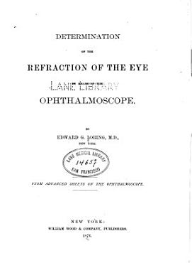 Determination of the refraction of the eye by means of theophthalmoscope PDF
