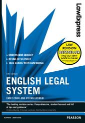 Law Express: English Legal System: Edition 5