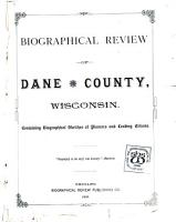 Biographical Review of Dane County  Wisconsin PDF
