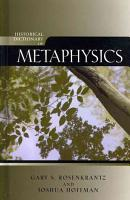 Historical Dictionary of Metaphysics PDF