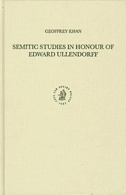 Semitic Studies in Honour of Edward Ullendorff PDF