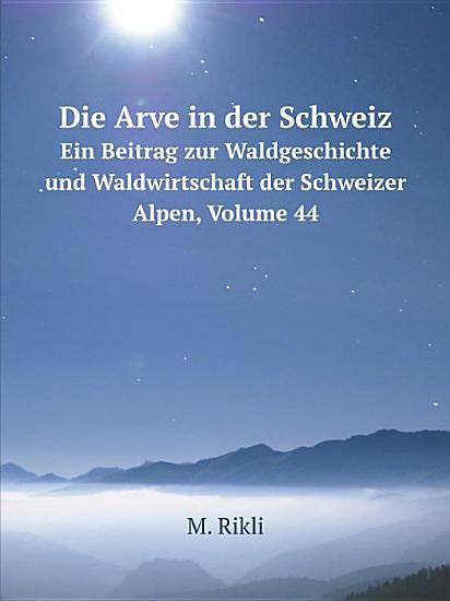 Die Arve in der Schweiz PDF