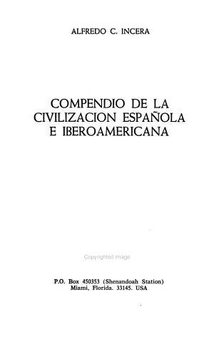 Compendio de la civilizaci  n espa  ola e iberoamericana
